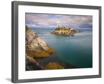 East Quoddy (Head Harbour) Lighthouse, Campobello Island, New Brunswick, Canada, North America-Alan Copson-Framed Photographic Print