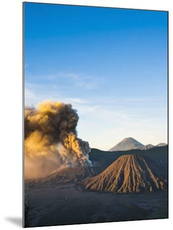 Mount Bromo Volcano Erupting at Sunrise, Sending Volcanic Ash High into Sky, East Java, Indonesia-Matthew Williams-Ellis-Mounted Photographic Print