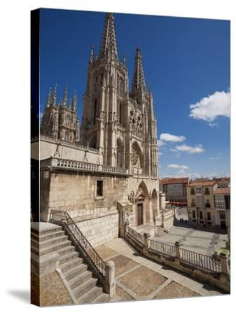 Burgos Cathedral, Burgos, Castilla Y Leon, Spain, Europe-Giles Bracher-Stretched Canvas Print
