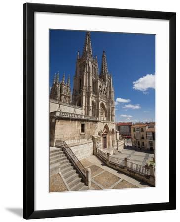 Burgos Cathedral, Burgos, Castilla Y Leon, Spain, Europe-Giles Bracher-Framed Photographic Print