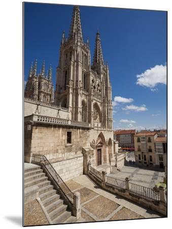 Burgos Cathedral, Burgos, Castilla Y Leon, Spain, Europe-Giles Bracher-Mounted Photographic Print