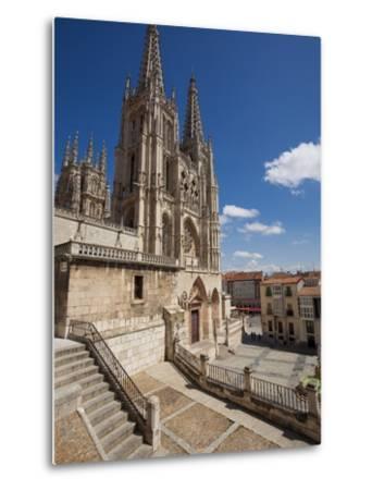 Burgos Cathedral, Burgos, Castilla Y Leon, Spain, Europe-Giles Bracher-Metal Print