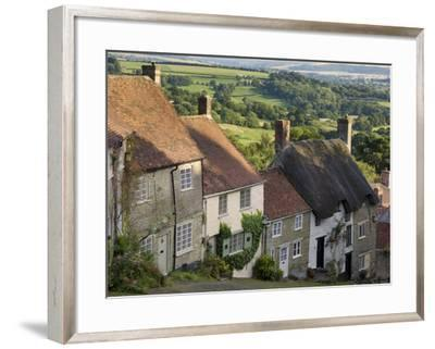 Gold Hill, and View over Blackmore Vale, Shaftesbury, Dorset, England, United Kingdom, Europe-Neale Clarke-Framed Photographic Print