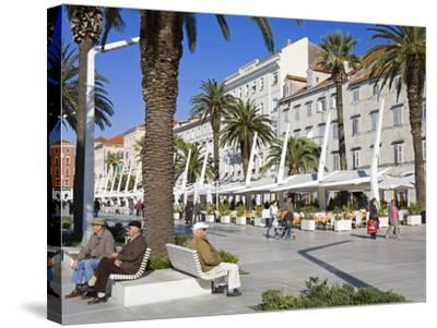 Cafes on the Riva in Split, Croatia, Europe-Richard Cummins-Stretched Canvas Print