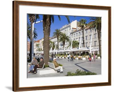 Cafes on the Riva in Split, Croatia, Europe-Richard Cummins-Framed Photographic Print
