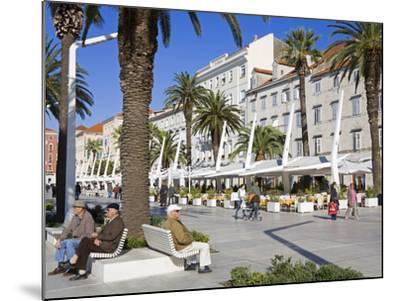 Cafes on the Riva in Split, Croatia, Europe-Richard Cummins-Mounted Photographic Print