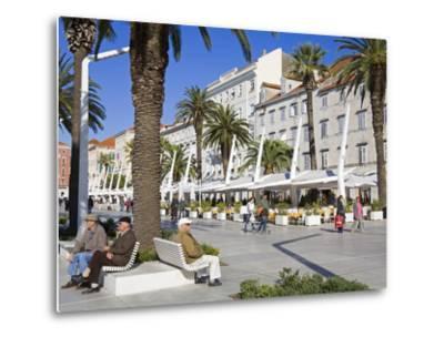 Cafes on the Riva in Split, Croatia, Europe-Richard Cummins-Metal Print