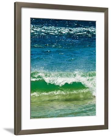 Small Green Wave, Strait of Gibraltar, El Estrecho Nat'l Park Tarifa, Costa de La Luz, Spain-Giles Bracher-Framed Photographic Print