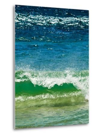 Small Green Wave, Strait of Gibraltar, El Estrecho Nat'l Park Tarifa, Costa de La Luz, Spain-Giles Bracher-Metal Print