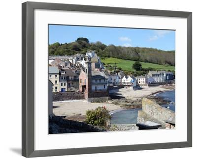 Old Clock Tower in the Village of Kingsand on Southwest Corner of Plymouth Sound, Devon, England-David Lomax-Framed Photographic Print