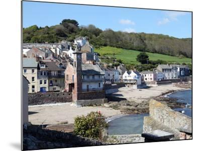 Old Clock Tower in the Village of Kingsand on Southwest Corner of Plymouth Sound, Devon, England-David Lomax-Mounted Photographic Print
