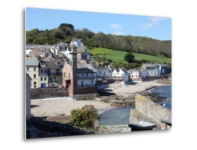 Old Clock Tower in the Village of Kingsand on Southwest Corner of Plymouth Sound, Devon, England-David Lomax-Metal Print