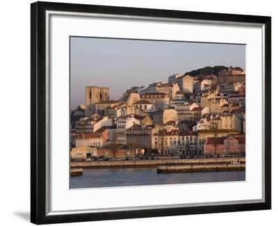 Cathedral and Alfama District at Dawn, Lisbon, Portugal, Europe-Rolf Richardson-Framed Photographic Print
