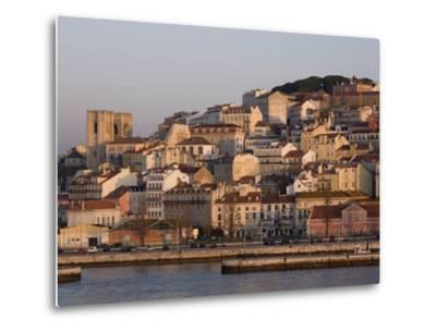 Cathedral and Alfama District at Dawn, Lisbon, Portugal, Europe-Rolf Richardson-Metal Print