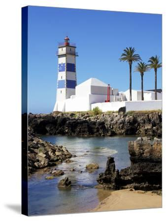 Lighthouse, Cascais, Portugal, Europe-Jeremy Lightfoot-Stretched Canvas Print