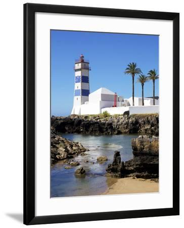 Lighthouse, Cascais, Portugal, Europe-Jeremy Lightfoot-Framed Photographic Print