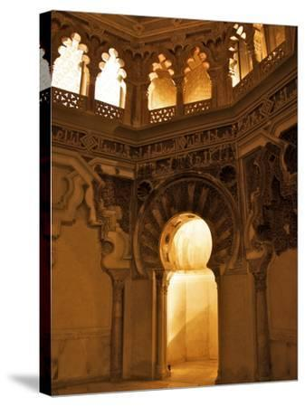The Musallah, Private Oratory with Mihrab, Aljaferia Palace, Saragossa (Zaragoza), Spain-Guy Thouvenin-Stretched Canvas Print