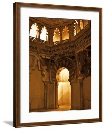 The Musallah, Private Oratory with Mihrab, Aljaferia Palace, Saragossa (Zaragoza), Spain-Guy Thouvenin-Framed Photographic Print