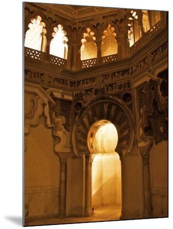 The Musallah, Private Oratory with Mihrab, Aljaferia Palace, Saragossa (Zaragoza), Spain-Guy Thouvenin-Mounted Photographic Print