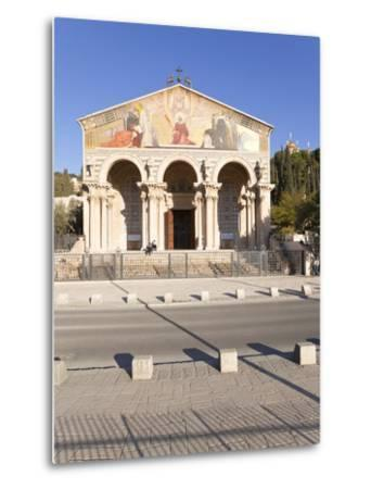 The Church of All Nations, Mount of Olives, Jerusalem, Israel, Middle East-Gavin Hellier-Metal Print