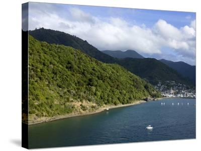 Queen Charlotte Sound, Picton, South Island, New Zealand, Pacific-Richard Cummins-Stretched Canvas Print