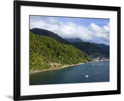 Queen Charlotte Sound, Picton, South Island, New Zealand, Pacific-Richard Cummins-Framed Photographic Print