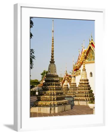 Colourful Stupa at Temple of the Reclining Buddha (Wat Pho), Bangkok, Thailand, Southeast Asia-Matthew Williams-Ellis-Framed Photographic Print