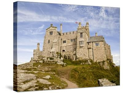 St Michael's Mount Castle Viewed Close Up, Cornwall, England, UK, Europe-Ian Egner-Stretched Canvas Print