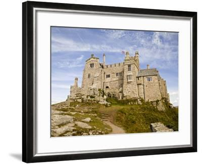 St Michael's Mount Castle Viewed Close Up, Cornwall, England, UK, Europe-Ian Egner-Framed Photographic Print