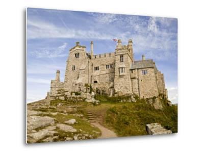 St Michael's Mount Castle Viewed Close Up, Cornwall, England, UK, Europe-Ian Egner-Metal Print