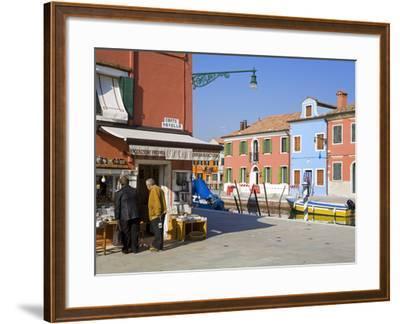 Store on Corte Novello, Burano Island, Venice, Veneto, Italy, Europe-Richard Cummins-Framed Photographic Print