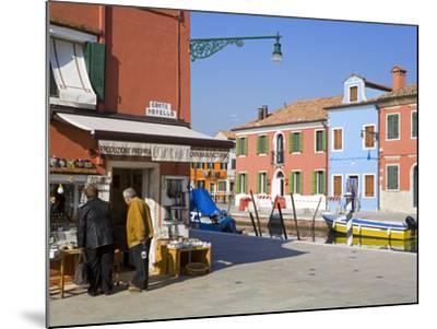 Store on Corte Novello, Burano Island, Venice, Veneto, Italy, Europe-Richard Cummins-Mounted Photographic Print