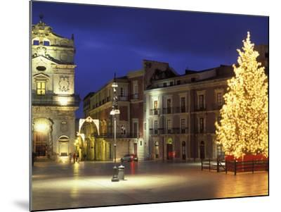 Duomo Square at Christmas, Ortygia, Siracusa, Sicily, Italy, Europe-Vincenzo Lombardo-Mounted Photographic Print