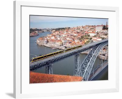 The Dom Luis 1 Bridge over River Douro, Porto (Oporto), Portugal-Adina Tovy-Framed Photographic Print