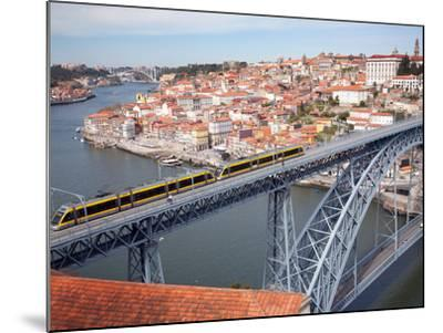 The Dom Luis 1 Bridge over River Douro, Porto (Oporto), Portugal-Adina Tovy-Mounted Photographic Print