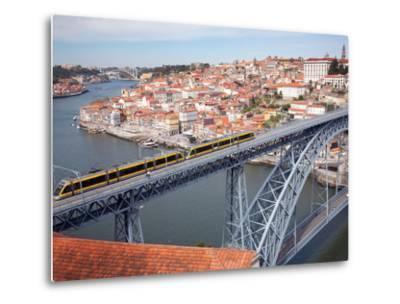The Dom Luis 1 Bridge over River Douro, Porto (Oporto), Portugal-Adina Tovy-Metal Print