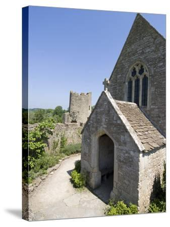 The Chapel of the 14th Century Farleigh Hungerford Castle, Somerset, England, UK, Europe-Ethel Davies-Stretched Canvas Print