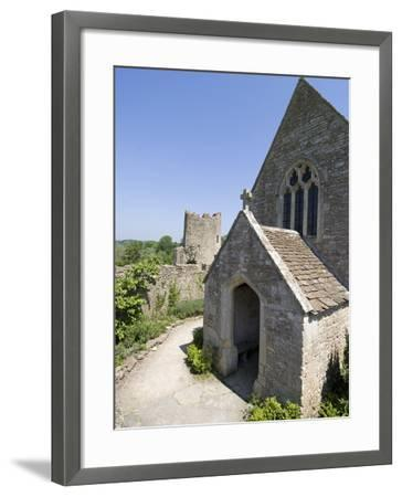 The Chapel of the 14th Century Farleigh Hungerford Castle, Somerset, England, UK, Europe-Ethel Davies-Framed Photographic Print