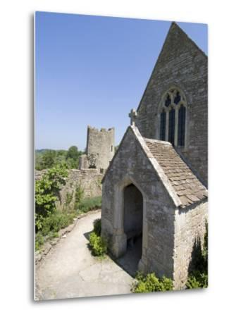 The Chapel of the 14th Century Farleigh Hungerford Castle, Somerset, England, UK, Europe-Ethel Davies-Metal Print
