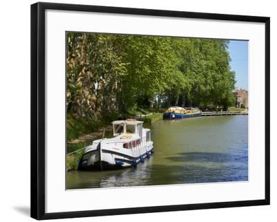 Near Locks of Fonserannes, Canal du Midi, UNESCO World Heritage Site, Beziers, Herault, France-Tuul-Framed Photographic Print
