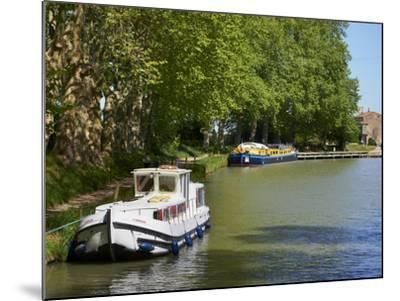 Near Locks of Fonserannes, Canal du Midi, UNESCO World Heritage Site, Beziers, Herault, France-Tuul-Mounted Photographic Print