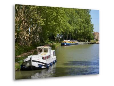 Near Locks of Fonserannes, Canal du Midi, UNESCO World Heritage Site, Beziers, Herault, France-Tuul-Metal Print