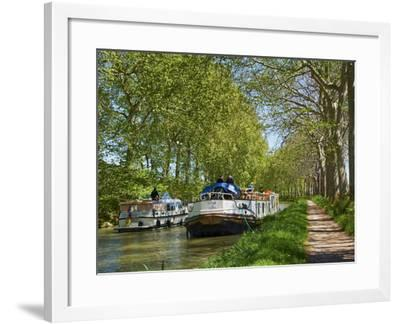 Navigation on Canal du Midi, UNESCO World Heritage Site, Languedoc Roussillon, France-Tuul-Framed Photographic Print