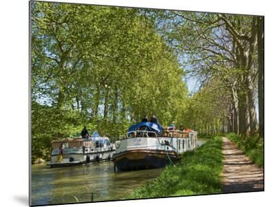 Navigation on Canal du Midi, UNESCO World Heritage Site, Languedoc Roussillon, France-Tuul-Mounted Photographic Print