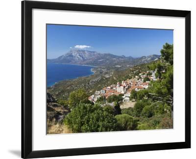 View to Mount Kerketeas and South West Coast, Spatharaioi, Samos, Aegean Islands, Greece-Stuart Black-Framed Photographic Print