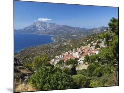 View to Mount Kerketeas and South West Coast, Spatharaioi, Samos, Aegean Islands, Greece-Stuart Black-Mounted Photographic Print