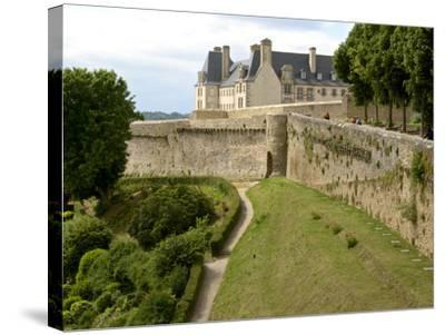 Town Ramparts from 13th-15th Centuries, Tower and English Garden, Dinan, Cotes D'Armor, France-Guy Thouvenin-Stretched Canvas Print