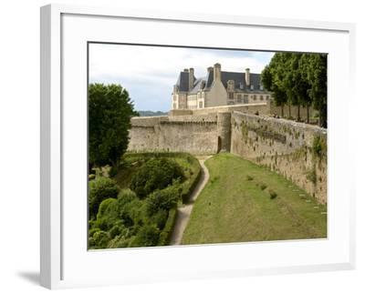 Town Ramparts from 13th-15th Centuries, Tower and English Garden, Dinan, Cotes D'Armor, France-Guy Thouvenin-Framed Photographic Print