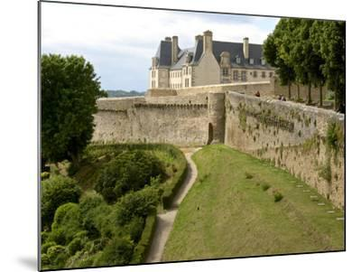 Town Ramparts from 13th-15th Centuries, Tower and English Garden, Dinan, Cotes D'Armor, France-Guy Thouvenin-Mounted Photographic Print