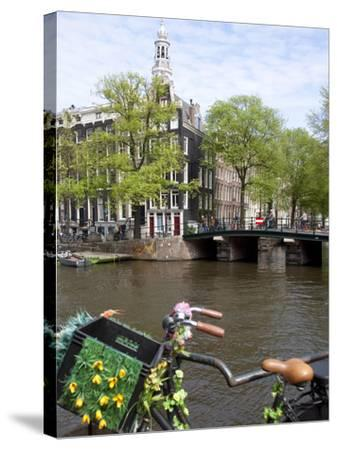Zuiderkerk and Canal, Amsterdam, Holland, Europe-Frank Fell-Stretched Canvas Print